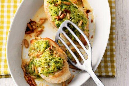 Hähnchenbrust mit Zucchini-Zitronen-Haube