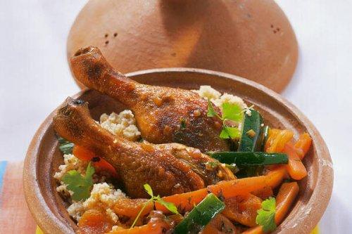 Marrokanische Enten-Tajine mit Aprikosen