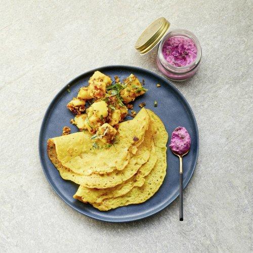 Indische Linsenpfannkuchen