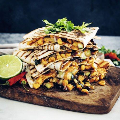 Quesadilla mit Zucchini und Mais