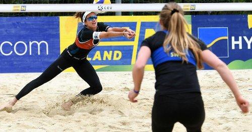 Beachvolleyball-Damen marschierten in Baden ins Semifinale