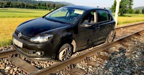 Kärntner Alko-Lenker nächtigte auf Bahngleisen