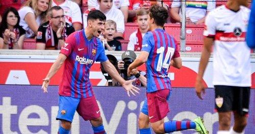 Yusuf Demir trifft beim 3:0 für Barcelona gegen Stuttgart
