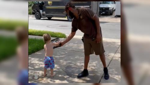 Precious video shows UPS driver bringing Austin 3-year-old birthday gift