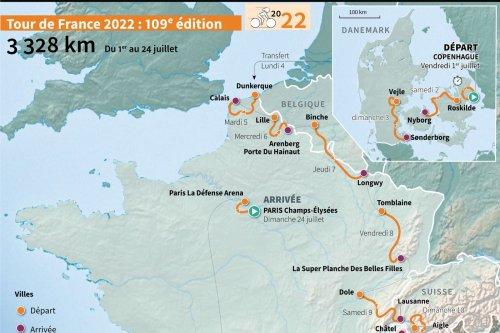 Parcours du Tour de France 2022 : découvrez la carte des étapes de la 109e édition