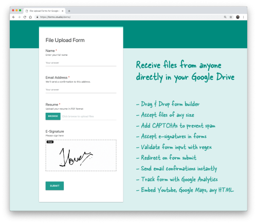 How to Create Forms that Allow File Uploads to Google Drive