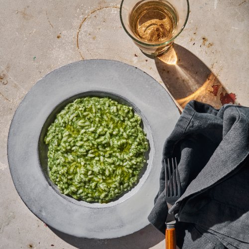Chef's Recipe: Nettle Risotto With Goat Cheese by Il Buco