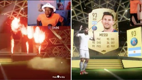Alphonso Davies Lost His S**t When He Packed Lionel Messi On FIFA 22 Ultimate Team