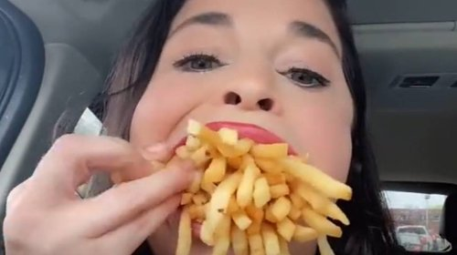 Woman With 'World's Biggest Mouth' Tries To Fit In Large McDonald's Fries