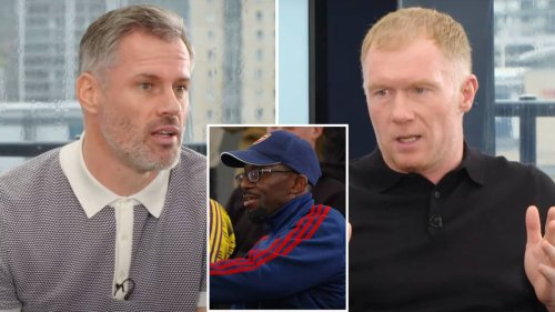 'Everybody Now Laughs' - Jamie Carragher And Paul Scholes Ruthlessly Mock Arsenal In Front Of Their Fans
