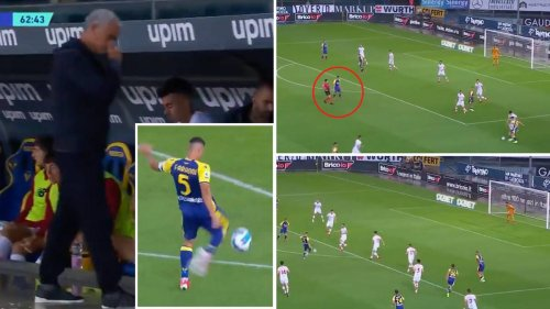 Davide Faraoni Scores Stunning Rocket Of A Volley To Hand Jose Mourinho First Defeat As Roma Manager