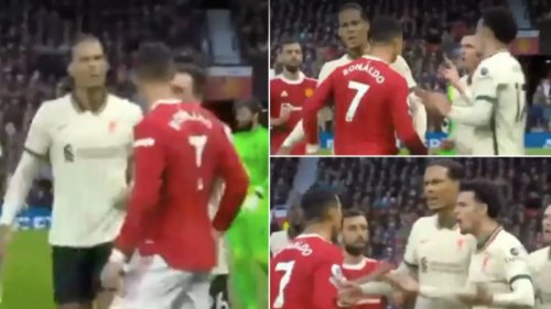 Virgil Van Dijk Chested Cristiano Ronaldo After Incident With Curtis Jones, He Didn't Want It