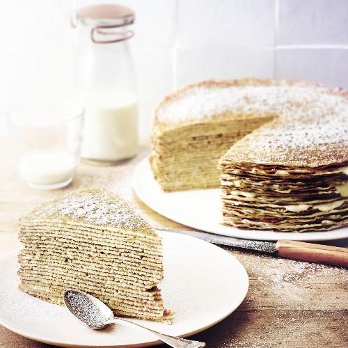 Comment faire un gâteau de crêpes - Elle à Table