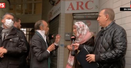 Le dévoilement d'une femme devant Zemmour a-t-il été mis en scène ?