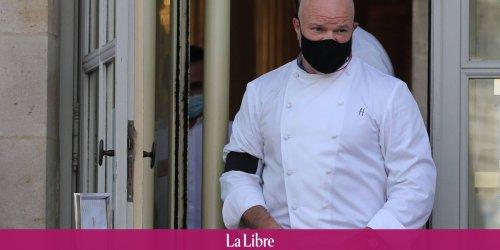 Le chef cuisinier Philippe Etchebest déguisé en gendarme pour contrôler le pass sanitaire de ses clients
