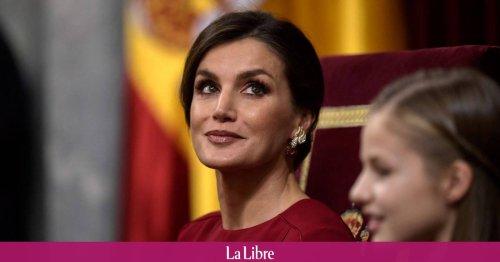 La robe en cuir à petit prix de Letizia d'Espagne fait un carton