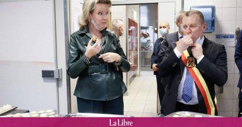 La reine Mathilde visite l'école hôtelière provinciale à Namur