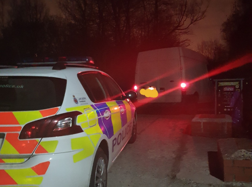 Transit van theft, false plates, no insurance and possession of cannabis - busy night for rural task force