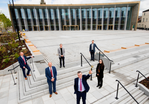 University given keys to new student centre and public square
