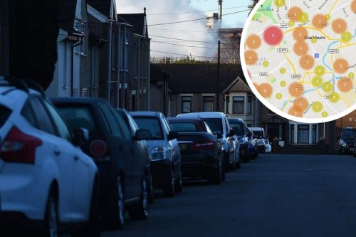 These are the Blackburn streets with the most recorded car crimes