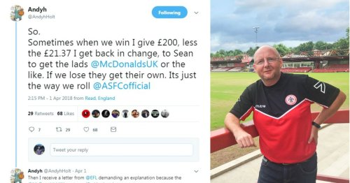 Accrington Stanley owner Andy Holt defends decision to buy players McDonald's after wins
