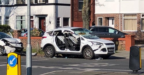 Three car smash sees injured driver cut free by firefighters
