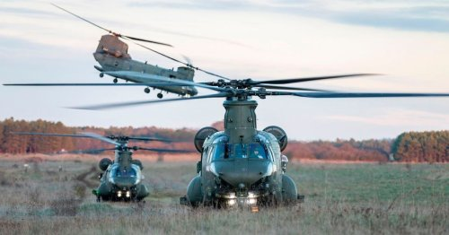 Massive war helicopters seen in Lancs sky and the reason why