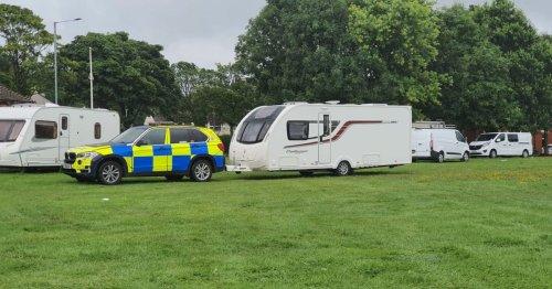 Stolen caravans seized from Preston travellers camp in police raid