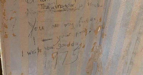 Girl's poem from 1975 about 'time travel' discovered on walls of Accrington home