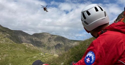 Lake District walkers take huge fall as air ambulances called out