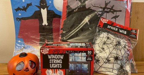 We spent £10 on Poundland Halloween decorations - and this was our reward