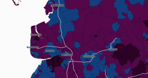 Specific Lancs neighbourhoods with sky-high Covid rates