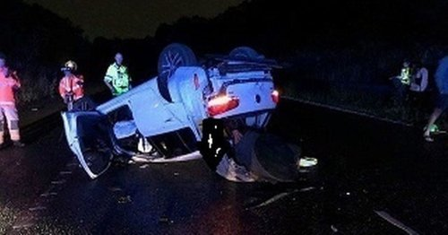 Heavy rain causes crashes on M61 in early hours of morning