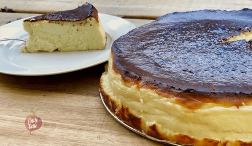 Gâteau au fromage basque - Le meilleur Cheesecake au MONDE   Recettes gourmandes, rapides et faciles