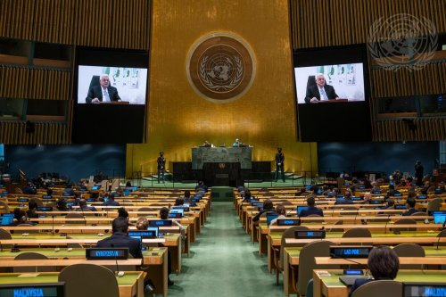 Frustrated Palestinian leader Abbas gives Israel ultimatum in harsh UN address