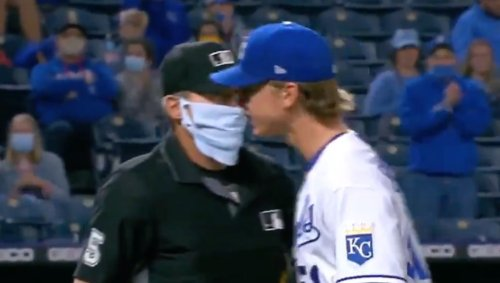 Video: Brady Singer was so ticked with Angel Hernandez before ejection