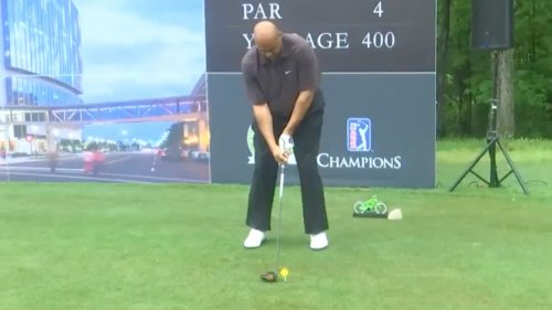 Video: Charles Barkley has finally fixed his golf swing