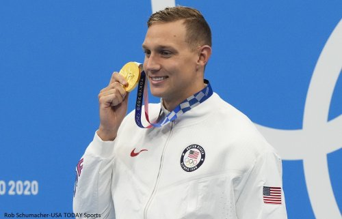 Caeleb Dressel explains why he gave his gold medal to teammate Brooks Curry