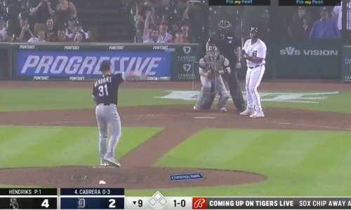 Video: Liam Hendriks gets game delayed after refusing to pitch in downpour