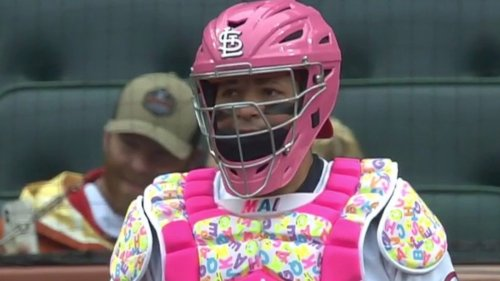 Yadier Molina wore awesome Mother's Day chest plate