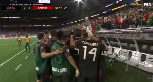 Mexico benefits from homophobic chant in Gold Cup win over Canada