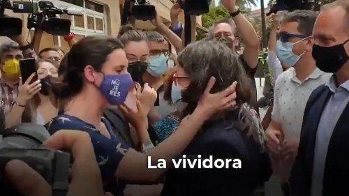 """Escrache contra Irene Montero y Mónica Oltra en Valencia: """"Os aprovecháis de los trabajadores, os dedicáis a vender humo"""""""
