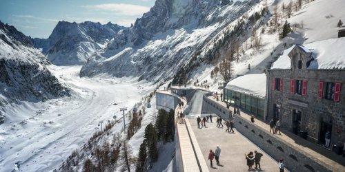 """A Chamonix, la Compagnie du Mont Blanc lance un """"relifting climatique"""" de la Mer de Glace"""