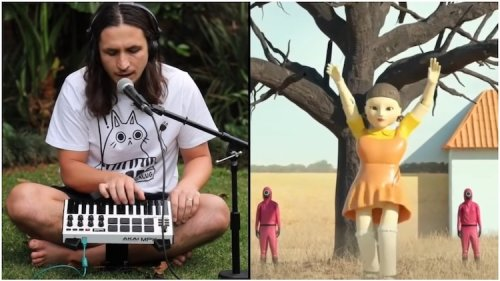 A Live Looping Remix of a Creepy Animated Dancing 'Red Light, Green Light' Doll From 'Squid Game'