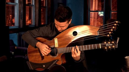 Musician Performs Thoughtful Acoustic Cover of the Classic Black Sabbath Song 'Paranoid' on Harp Guitar