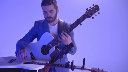 A Harmonic Cover of 'Stairway to Heaven' on Played by One Musician on Three Different Guitars