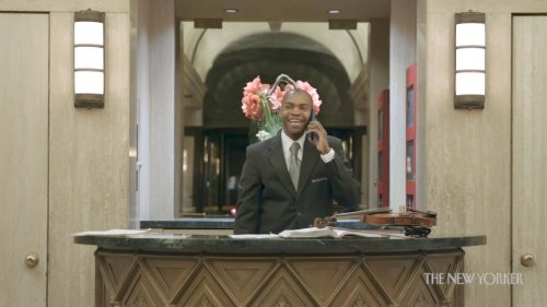 A Talented New York City Doorman Who Plays Violin and Is Art Dealer, All While in the Service of Others