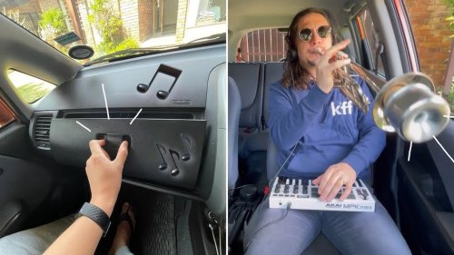 A Live Looping Rhythmic Remix of a Squeaky Glove Compartment Playing Light Jazz