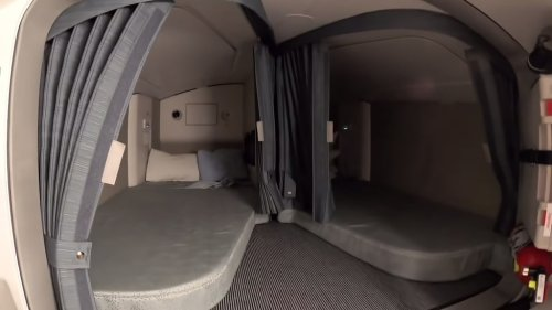 An Inside Look at the 'Secret' Comfy Pilot Beds and Electronics Room Below the Cockpit of an Airbus 350