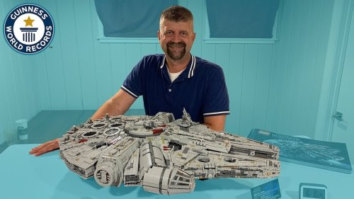 Leftover Piece Prevents Man From Setting World Record for Fastest Time to Build the LEGO Millennium Falcon